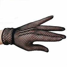 FISHNET Black Gloves Costume Gothic Steam Punk Burlesque Cocktail FAST FREE POST
