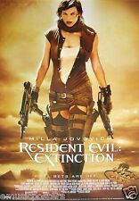 "RESIDENT EVIL:EXTINCTION ""ALL BETS ARE OFF"" POSTER - Millla Jovovich With 2 Guns"