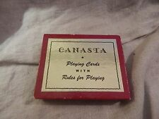 Vintage Canasta Playing Cards Lady in Dress