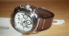New Fossil FS4929 Modern Machine Men's Chronograph Watch Brown Leather Strap NIB