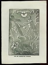 santino stampa popolare 1800 ANIME SANTE DEL PURGATORIO GESU' REDENTORE