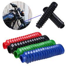 2PCS/Set Universal Motorcycle Rubber Front Fork Dust Cover Gaiters Gators Boots