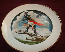Patriots of American Bicentennial Plate By Robert Charles Howe Dated 1976