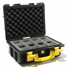Invicta 8 Slots Diver Box Black/Yellow Impact Resistant Case Waterproof