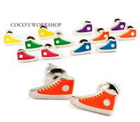 QUALITY CUte MINI ENAMEL ✿ Converse ✿ BOOTS SHOES FUNKY KITSCH EAR STUD EARRINGS