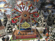 "TRAIN VILLAGE HOUSE "" CARNIVAL EXCITING FERRIS WHEEL RIDE "" + DEPT 56/LEMAX info"