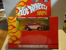 Hot Wheels 100% Red Box Pink Chrome '66 Volkswagen Beetle