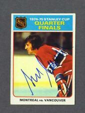 Serge Savard signed Montreal Canadiens 1975-76 Topps hockey card