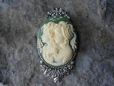 *SISTERS, MOTHER, DAUGHTER, GENERATIONS, FRIENDS CAMEO BROOCH / PIN -GIFTS, XMAS