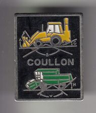 RARE PINS PIN'S .. AGRICULTURE TRACTEUR BTP MOISSONNEUSE TRACTO PELLE COULLON~DB