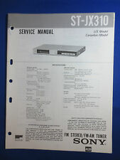 SONY ST-JX310 TUNER SERVICE  MANUAL FACTORY ORIGINAL GOOD CONDITION