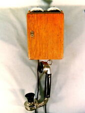 NICE WESTERN ELECTRIC 141 W 70 HANDSET TELEPHONE WITH OAK TYPE 295BP SUBSET