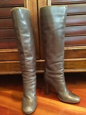 AUTHENTIC CHLOÉ GRAY KNEE-HIGH BOOTS SIZE 37.5