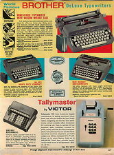 1967 ADVERT Brother Deluxe Portable Typewriter Heavy Duty Compact