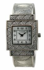 Chico's Women's Antique Silver-Tone Bangle Watch CH-382. New and unworn.