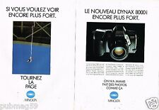 Publicité Advertising 1990 (2 pages) Appareil Photo Minolta Dynax 8000i
