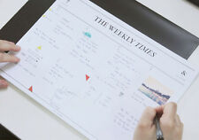 The Weekly Times - Desk Note Pad - Desktop Weekly Scheduler 30 Weeks Planner