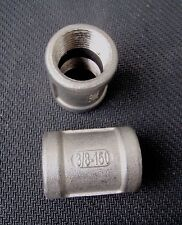 "STAINLESS STEEL COUPLING 3/8"" NPT FEMALE  PIPE FITTING"