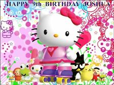 "PARTY PACK - HELLO KITTY  PERSONALIZED 10 x 7.5"" ICING CAKE TOPPER"