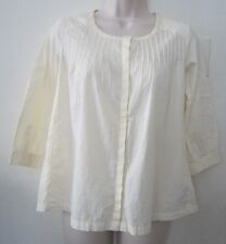 BITTEN by Sarah Jessica Parker Collarless Buttons Down Tunic Blouse - Size XS