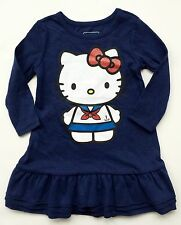 NWT Old Navy Girls Hello Kitty Sailor Dress 12-18 Months Navy Blue $22.94