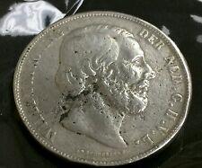 Netherlands 2-1/2 Gulden, 1868 William III .900 Silver Crown