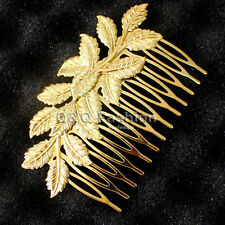 Grecian Big Leave Branch Hair Comb Cuff Head Dress Jewelry Wedding Bridal Party