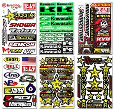 6x Rockstar Energy Graphics Kits Sticker Motocross Big Bike Arai Gas Logo Decal