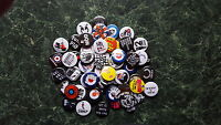 MIXED 60 x 1 INCH BUTTON BADGES RETRO MOD PUNK SKA JOB LOT PISTOLS SCOOTER PARTY