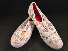 PAIR OF MISSES SIZE 8 GOTHIC HEARTS & FLOWERS KEDS EVERYBODY WANTS KEDS SNEAKERS