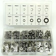 790pc Flat & Spring Washers Stainless Steel Grade 201 Assorted Tool Set 4 - 12mm