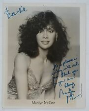 Marilyn McCoo R&B and Disco Queen Original Autographed B&W Photograph, Cleavage