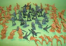BMC Western Plastic 7th Cavalry & Indians Figures Set W/Custer Figure