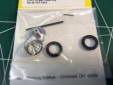 Aluminum Front Wheel Kit for Super II Aurora AFX and Auto World Slot Car