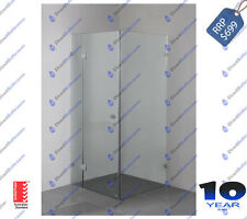 Fully Frameless Shower Screen 900mm x 900mm x 2000mm DIY Shipping in AU