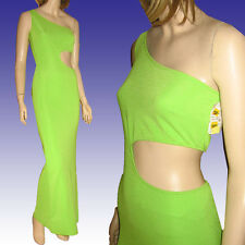 Sexy Slinky BARE MIDRIFF BODYCON MAXI DRESS  NWT Lime Panoply Atlanda Couture 4
