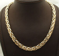 "18"" Technibond Wheat Spiga Chain Necklace 14K Yellow Gold Clad Silver HSN"