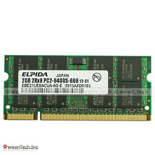 New 2GB PC2-6400 DDR2-800MHz SODIMM Memory For Dell INSPIRON 6000 6400 9300 9400