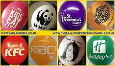 "75 Custom Printed Personalised Balloons 12"" Helium Latex Branded Balloon"