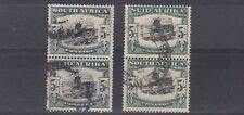 SOUTH AFRICA  1933 - 48  S G 64 & 64B  5/-  USED  PAIRS   CAT £96