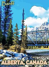 Banff National Park Alberta Canada United States Travel Advertisement Poster