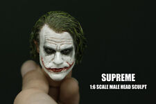 Supreme 1/6 Scale Joker Heath Ledger Head Sculpt For Hot Toys Figure Body