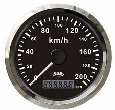 GPS Speedometer 85mm Stainless Steel Bezel 200km/h for Car Truck Gauges Black