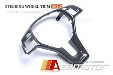 Mercedes Benz A B C E Class CLA CLS SLK SL GLK Carbon Fiber Steering Wheel Trim