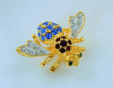 Joan Rivers Red White & Blue Crystal Bee Pin