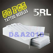 50 pcs DISPOSABLE 5RL Round Liner STERILE TATTOO NEEDLES ink machine supplies