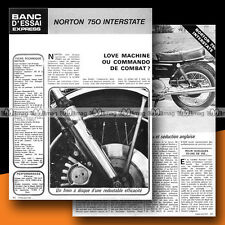 ★ NORTON COMMANDO 750 INTERSTATE ★ 1972 Essai Moto / Original Road Test #b11
