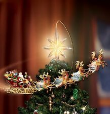 THOMAS KINKADE HOLIDAYS IN MOTION SANTA ROTATING TREE TOPPER - IN STOCK!