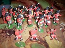 Vintage Britains & Herald Scots Guards with Kilts & Bagpipes & Drums