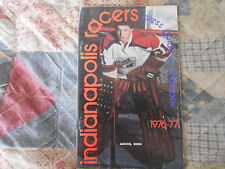 1976-77 INDIANAPOLIS RACERS MEDIA GUIDE YEARBOOK WHA Hockey Program 1977 AD